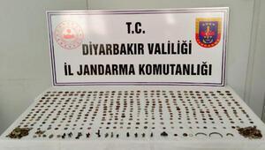 Diyarbakırda 400 bin liralık tarihi eser operasyonu; 3 gözaltı