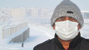 Ağrı eksi 32.7 dereceyle buz kesti
