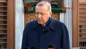 Cumhurbaşkanı Recep Tayyip Erdoğan, cuma namazı çıkışında soruları yanıtladı.