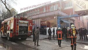 Hastane yangını panik yarattı