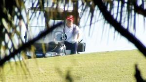 Trump kendini golfe vurdu