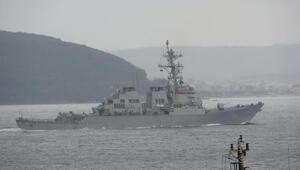 ABD savaş gemisi Çanakkale Boğazından geçti