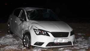 Kayseride otomobil şarampole devrildi: 4 yaralı