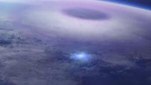 Dünyadan uzaya yayılan mavi ışık huzmesinin canlandırma görüntüsünü yayınlandı