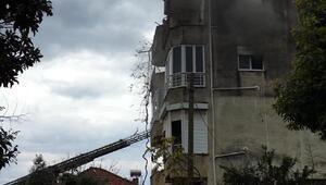 Kumlucada ev yangını