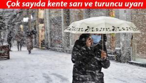 İstanbula kar yağacak mı Meteorolojiden son dakika hava durumu raporu... Çok sayıda kent için alarm