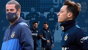 Mesut Özil sahaya indi İlk idmanında Caner, Ozan ve Volkan Demirel...