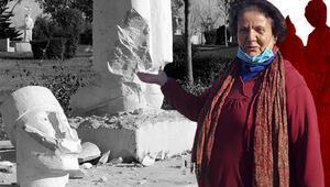 Antalyada heykellere çirkin saldırı... Bunu yapan insan olamaz