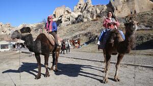 Kolombiyalı ve Meksikalı turizmciler Kapadokyayı gezdi