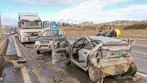 Edirnede zincirleme kaza: 1 ölü