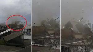 Bursa'da fırtına Ortalık savaş alanına döndü, çatı uçtu…