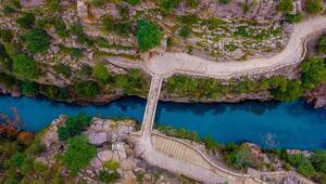 Köprülü Kanyonda kış manzarası