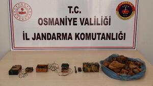 Osmaniye'de PKKlıların kullandığı sığınakta patlayıcı ve yaşam malzemesi ele geçti