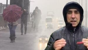 İstanbulda kar yağışı başladı Meteorolojiden peş peşe uyarılar...
