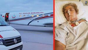 Almanya'ya gezmeye geldi, ambulans uçakla döndü