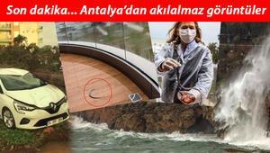 Antalyayı fırtına balığı balkona fırlattı Uçaklar inemedi, ağaçlar devrildi, araçlar mahsur kaldı