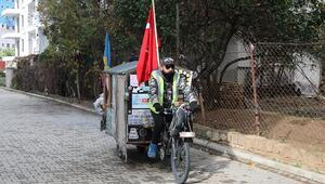 Arjantinli gezgin, bisikletiyle dünyayı geziyor