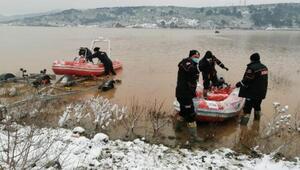 Çanakkalede baraj suyunda kaybolan 2 kişiyi arama çalışmaları devam ediyor