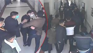 Şanlıurfada hastanede dehşete düşüren görüntüler 20 hasta yakını güvenlik görevlisini dövdü