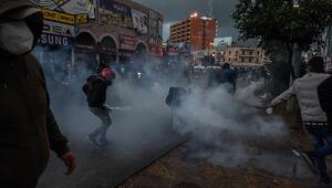 Lübnan yangın yeri Protestolarda çok sayıda yaralı var