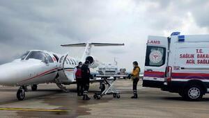 3 günlük bebek, ambulans uçakla Bursaya getirildi
