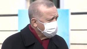Cumhurbaşkanı Erdoğan, Cuma Namazı sonrası gazetecilerin sorularını yanıtlıyor.