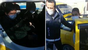 Kocaelide taksiden Afganistan uyruklu 9 kaçak göçmen çıktı
