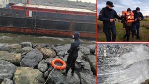İstanbulda fırtına... Gemi karaya oturdu... Mürettebat böyle kurtarıldı...