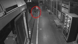 Fenalaşıp tramvay raylarına düştü Böyle kurtuldu