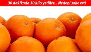 Duyanlar şoke oldu... Bagaj parası vermemek için 30 kilo portakal yediler