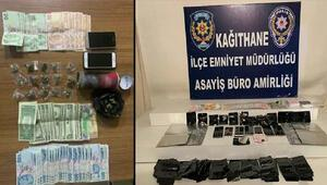 İstanbulda 104 kilogram uyuşturucu ele geçirilen operasyonlar kamerada
