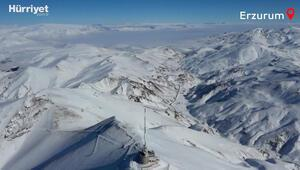 Erzurumun karlı dağlarından görüntüler