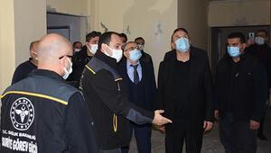 Sağlık Bakanlığı yetkililerinden Suriyenin kuzeyinde terörden temizlenen harekat bölgelerine ziyaret
