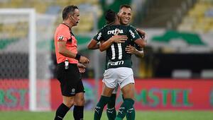 Libertadoreste şampiyon Palmeiras Santos tek golle yıkıldı