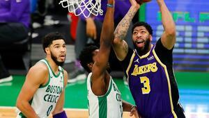 NBAde gecenin sonuçları | Lakers, Celticsi bir sayı farkla mağlup etti