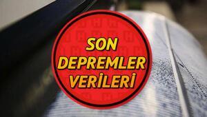 İzmirde son dakika deprem mi oldu Nerede deprem oldu Kandilli ve AFAD son depremler listesi