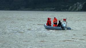Çanakkalede baraj suyunda kaybolan kişiyi arama çalışmaları 6'ncı gününde devam ediyor