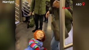 ABDde metroda Chucky kostümlü sosyal deney viral oldu