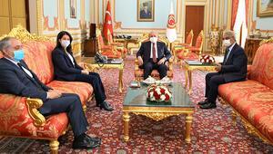 HDPli Buldan ve Sancardan TBMM Başkanı Şentopa ziyaret