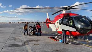 Ambulans helikopterle hayata döndürenlere teşekkür
