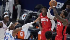 NBAde Gecenin Sonuçları: Rockets, üç sayı rekoru kırdı Thunderı farklı yendi...
