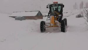 Karlıovada kardan kapanan 47 köy yolu açıldı