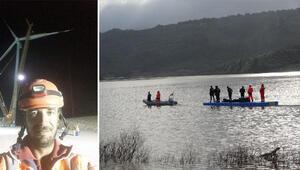 Çanakkalede baraj suyunda kaybolan kişiyi arama çalışmaları 7'nci gününde