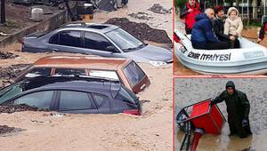 Son dakika: İzmirdeki olağanüstü sağanak yağış için peş peşe açıklamalar 2 kişi hayatını kaybetti