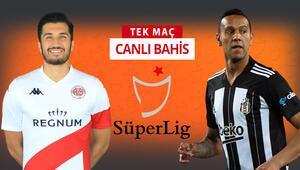 Antalyasporda 6 eksik Beşiktaşın galibiyetine verilen iddaa oranı...