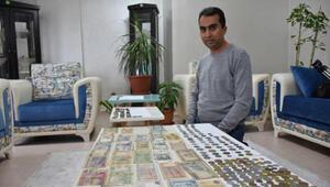 Tutkunu olduğu koleksiyona 50 bin TL harcadı; 250 parça eski para topladı