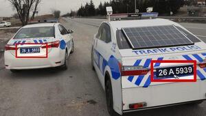 Eskişehirde maket polis aracı, 3 boyutlu hale getirildi