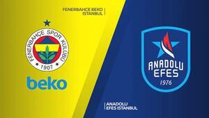 Euroleaguede 24. maç haftası Anadolu Efes deplasmanda, Fenerbahçe Beko evinde...