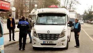 Diyarbakır zabıtasından, minibüslere ücret tarifesi denetimi