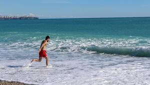 Antalyada yazla kış arası yarım saat